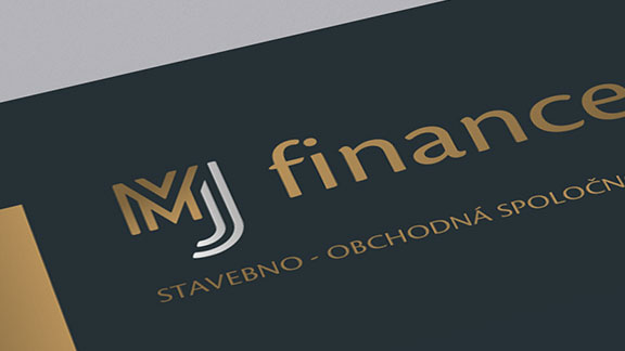 logo a firemná grafika MJ finance